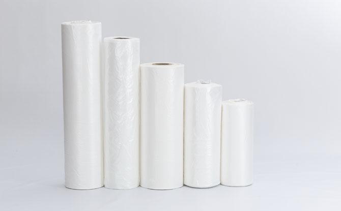 Bobinas de sacolas plásticas